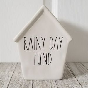 Rae Dunn Rainy Day Fund Ceramic Piggy Bank